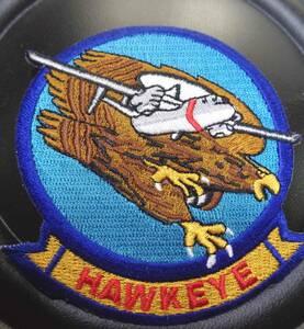 偵察◆新品 アメリカ軍 US米軍 ホークアイ鷹の目 AIR FORCE 刺繍ワッペン(パッチ)◆◇サバゲー・コスプレ・ミリタリー◎激シブ