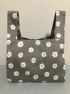 ハンドメイド エコバッグ コンビニサイズ お弁当サイズ トートバッグ マルシェバッグ ショッピングバッグ 花柄 買物袋