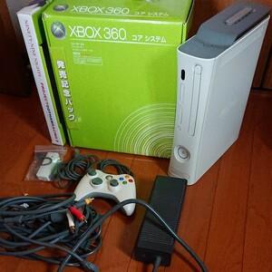 ジャンク XBOX360 120GBhdd D端子HDAVケーブル その他周辺機器付