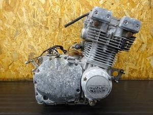 【000B-210510】GSX750S(GS75X-108)■ 中古エンジン 始動確認後取り外し!! セルモーター ジェネレーター ※検:GSX1100S 【刀 カタナ