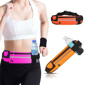 ランニングポーチ ランニングバッグ スマホ 大容量 防水 揺れない 軽量 ウエストポーチ 色オレンジ 送料無料