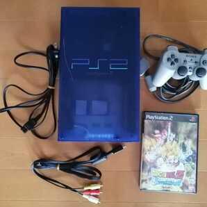 SONY PS2 scph-37000 オーシャンブルー すぐ遊べる ソフト付 動作確認済 送料無料