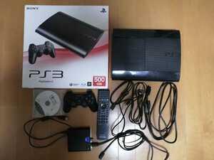 美品 PS3 PlayStation3 本体 CECH-4000c TORNE トルネ コントローラー BDリモコン 接続ケーブル HDMIケーブル 500GB 動作確認済