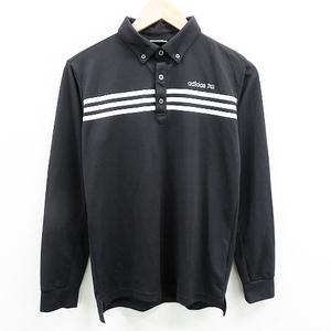 【即決】adidas GOLF アディダスゴルフ 長袖ポロシャツ ブラック系 S [240001475755] ゴルフウェア メンズ