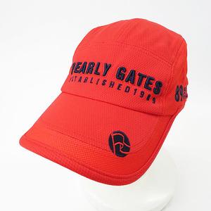 【即決】PEARLY GATES パーリーゲイツ キャップ 刺繍 レッド系 FR [240001483169] ゴルフウェア メンズ