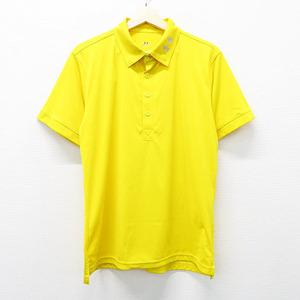 UNDER ARMOUR アンダーアーマー 半袖ポロシャツ ボタンダウン イエロー系 L [240001492606] ゴルフウェア メンズ