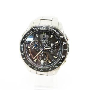 【1円】CASIO カシオ OCW-M800 腕時計 電波ソーラー クロノグラフ シルバー系 [240001474672]