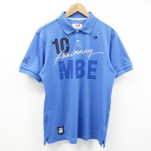 MASTER BUNNY EDITION マスターバニーエディション 2020年モデル 半袖ポロシャツ 10周年 ブルー系 6 [240001499938] ゴルフウェア メンズ