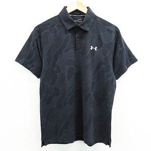 UNDER ARMOUR アンダーアーマー 2020年モデル 半袖 ポロシャツ カモフラ ブラック系 MD [240001505008] ゴルフウェア メンズ