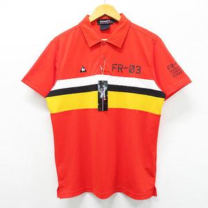 【新品】Lecoq golf ルコックゴルフ XQG1622 半袖ポロシャツ オレンジ系 L [240001522476] ゴルフウェア メンズ