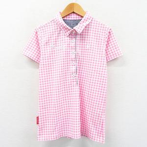 【即決】Lecoq golf ルコックゴルフ 半袖ポロシャツ チェック ピンク系 M [240001537278] ゴルフウェア レディース