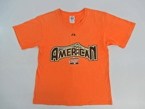 C686◆AMERICAN ALL STAR GAME 2007 ICHIRO イチロー #51 Tシャツ 女性用 サイズ:L オレンジ 野球/記念/MLB/メジャーリーグ