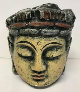 仏像 / 頭部 / 置物 / 陶器 / 約26cm