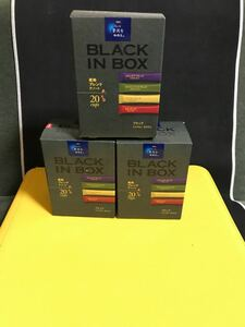 AGF  ちょっと贅沢な珈琲店 BLACK IN BOX 20本入り×3箱