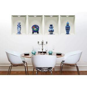 (NO.180)DIY剥がせる壁飾りウォールステッカー綺麗 仕上がり青花磁 額縁