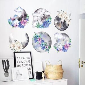 (NO.157)DIY剥がせる壁飾りウォールステッカー綺麗な仕上がり 水墨画