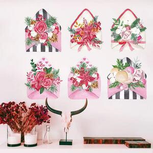 (NO.169)DIY剥がせる壁飾りウォールステッカー綺麗な仕上がり 花封筒飾り