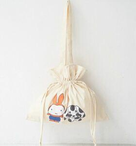巾着トートバッグ 巾着バッグ ミッフィー ROPE' PICNIC きんちゃくトートバッグ  ロペピクニック