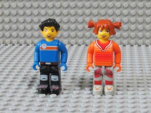【送料無料】5K336-ミニフィグ凸LEGO ジュニア向け大きめフィグ-男の子と女の子