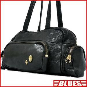 即決★N.B.★オールレザーボストンバッグ メンズ 黒 本革 トラベル 本皮 かばん 出張 カバン 旅行 しわ加工 鞄 手提げバッグ