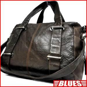 即決★Miah★レザーハンドバッグ ミア メンズ 茶 焦茶 本革 トートバッグ 本皮 かばん 鞄 レディース ショルダーバッグ 2way 手提げバッグ
