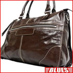 即決★GILLIVO★オールレザートートバッグ ジリボ メンズ 茶 本革 ハンドバッグ 本皮 かばん 通勤 トラベル 出張 カバン 鞄 レディース