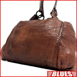 即決★genten★オールレザートートバッグ ゲンテン メンズ 茶 本革 ハンドバッグ 本皮 かばん 通勤 トラベル 出張 カバン 鞄 レディース