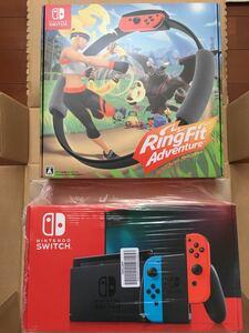 【新品未開封】Nintendo  Switch 新モデル本体 & リングフィットアドベンチャー(パッケージ版)