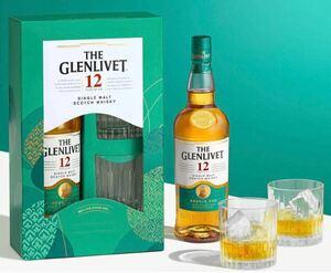 ザ・グレンリベット12年 グラス2個付き シングルモルトスコッチウイスキー ウイスキー スコットランド 700ml
