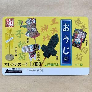 【使用済】 オレンジカード JR東日本 王子の縁起物
