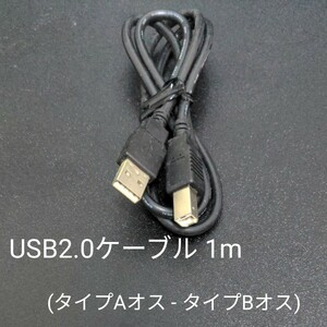 USB2.0ケーブル 1m (タイプAオス - タイプBオス)