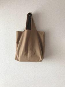 *handmade トートバッグ ::濃ベージュ
