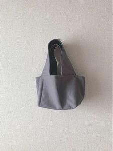 *handmade トートバッグ ::はいいろとえんじ