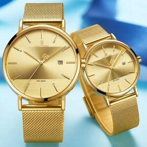 (E3270)腕時計 Naviforce 時計 恋人 セット クォーツ 防水 女性 男性 カップル ペア ユニセックス S2301