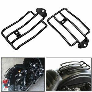 (F2228) 新品 ラゲッジラック ハーレー ソロシート ブラック バイク オートバイ Harley ブラック