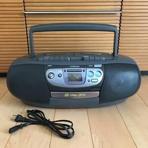 ビクター ラジカセ RC-QW10 Victor ラジオ AM/FM カセットテープ カセットデッキ CD 経年 ジャンク 修理 部品取り