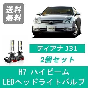 ティアナ J31 LED ヘッドライトバルブ ハイビーム 日産 VQ35DE VQ23DE QR25DE H15.2~H20.5 H7 6000K 20000LM SPEVERT製