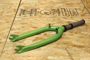 中古、美品:BMX 20インチ用フラットフォーク  / SUELO FORK / パールグリーン