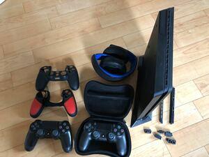 PS4本体 ワイアレスヘッドセット コントローラー2個 おまけ多数