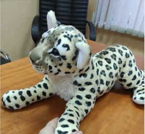 S-070 【ヒョウ/トラ/ライオン】リアル 可愛い トラ ライオン ヒョウ 子ども ぬいぐるみ 48cm