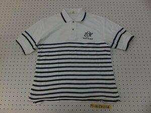 〈送料280円〉ZOY TENUE DE GOLF ゾーイ メンズ ロゴ刺繍 パネルボーダー 半袖ポロシャツ 1 紺黒白