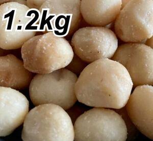 マカダミアナッツ 1.2kg 素焼き 無塩 大粒 無添加 美容 非常食 送料無料