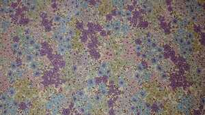 生地 コットンこばやし花柄ブロードプリント 花柄紫