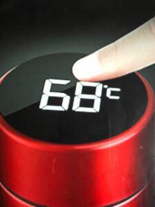 温度表示 保冷.保温ボトル 500ml レッド