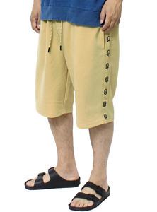 【新品】 4L ベージュ ショートパンツ メンズ 大きいサイズ サイドライン メッシュ切替 ポンチ素材 スウェット ハーフパンツ