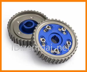 B211  ホンダ D15/D16型エンジンSOHC アルマイト製軽量カムギア シビック/CR-X/デルソル カラー:ブルー