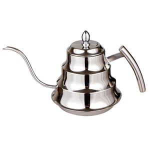使い勝手良し!!コーヒー ポット 1.2L 高品質 キッチン ステンレス鋼 コーヒー ドリップ ケトル ティーポット ka445*