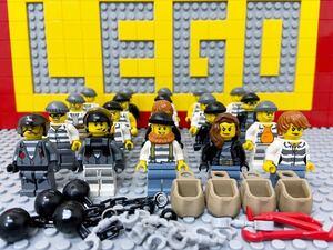 ☆ポリス☆ レゴ ミニフィグ 大量20体 泥棒 強盗 囚人 悪党 ( LEGO 人形 シティ