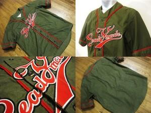 名作 本物 超高級 即完売 READYMADE レディメイド BASEBALL SHIRT ベースボールシャツ 半袖 シャツ カーキ ヴィンテージ 0