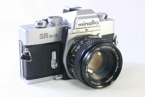 実用★ミノルタ SR505 + MC ROKKOR-PF 50mm F1.7★露出計不動★AC832
